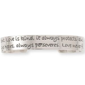 Ladies 'LOVE CUFF' Inspirational Quote Bracelet